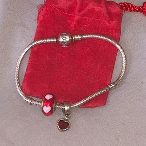 Authentic pandora charm bracelet w authent charms